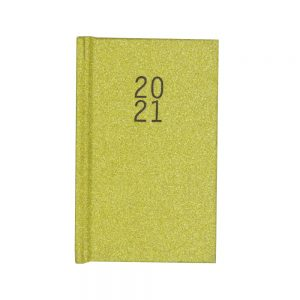2021 Pocket Glittered Organiser Diary Gold Front