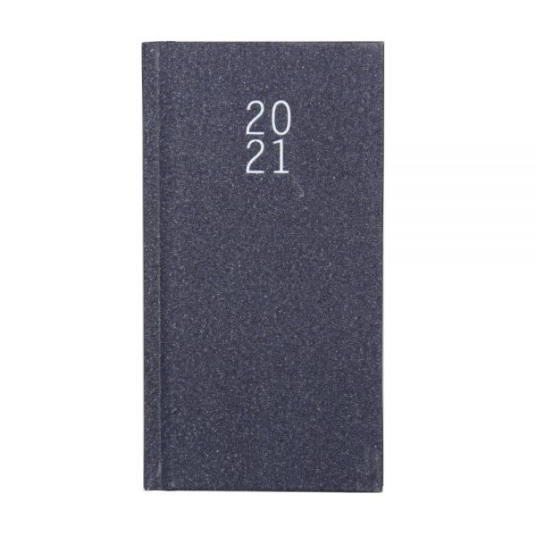 2021 Slim Glittered Organiser Diary Gorgeous Grey Front