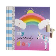 Girls Secret Lock and Key Diary My Rainbow Day Front 2
