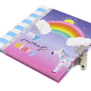 Girls Secret Lock and Key Diary My Rainbow Day Front