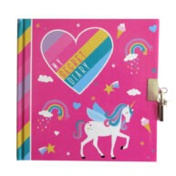 Girls Secret Lock and Key Diary I Love Unicorns Front