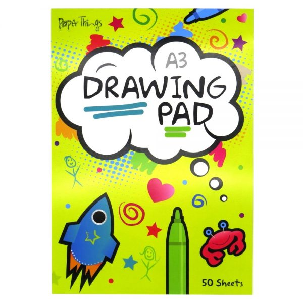 Paper Things A3 Large Childrens Drawing Art Pad