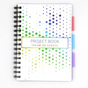 A5 Project Subject Notebook Colourful Spots Front 2