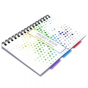 A5 Project Subject Notebook Colourful Spots Front