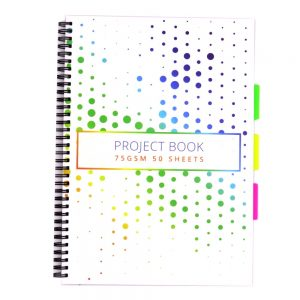A4 Project Subject Notebook Colourful Spots Front