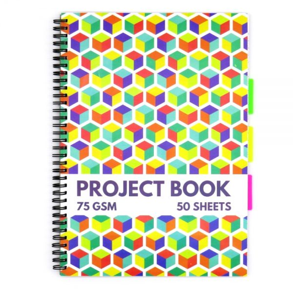 A4 Project Subject Notebook Cube Front