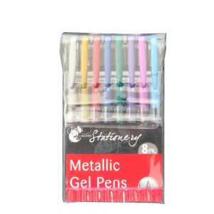 Metallic Gel Pens 8 Pack Front