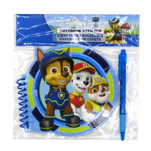 Paw Patrol Notebook and Pen Front