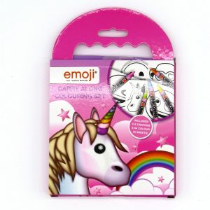 Emoji Unicorn Cary Colouring Set Front