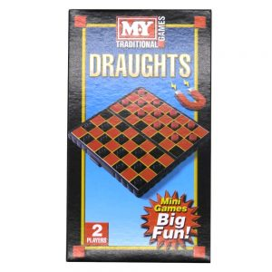 Magnetic Travel Game Draughts Front