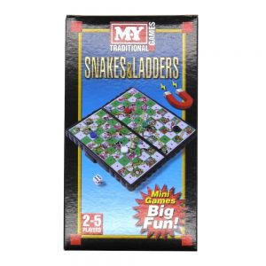 Magnetic Travel Game Snakes and Ladders Front