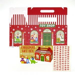 Large Christmas Eve Box with Handle Toy Shop Front