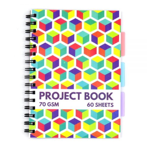 A5 Project Subject Notebook Cube Front