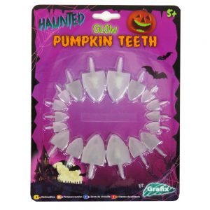 Halloween Pumpkin Shark Teeth Front