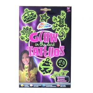Girls Glow in the Dark Tattoos Front
