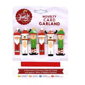 Christmas Card Novelty Card Pegs Front