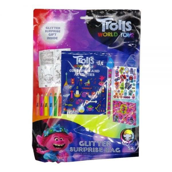Trolls World Tour Glitter Surprise Bag Front