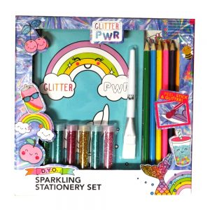 Design Your Own Sparkling Stationery Set Front