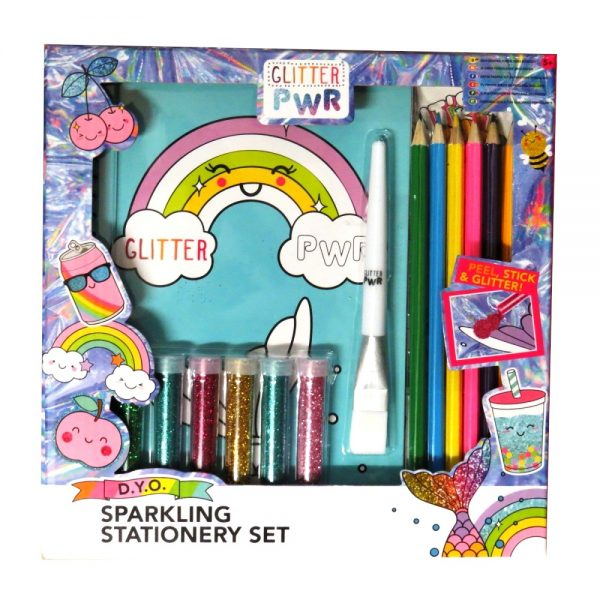 Design Your Own Sparkling Stationery Set Front