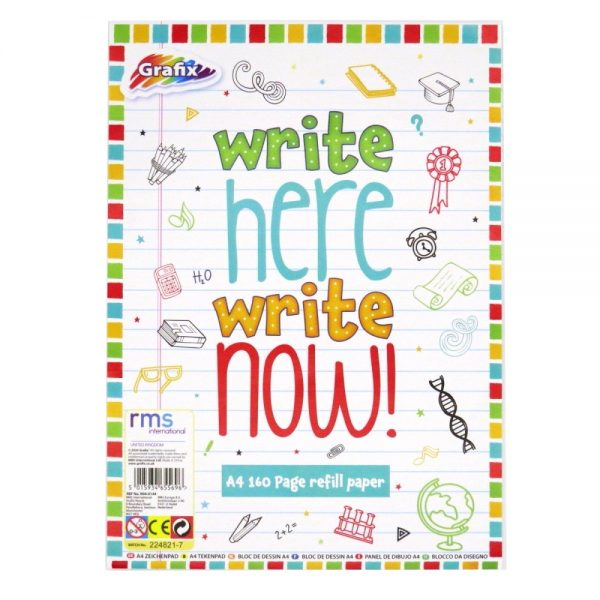 Grafix A4 Refill Writing Paper 160 Page Front
