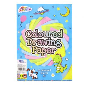 Grafix A4 Coloured Drawing Paper 70 Sheets Front