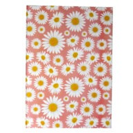 A4 Hard Cover Floral Notebook I Love Daisies Front