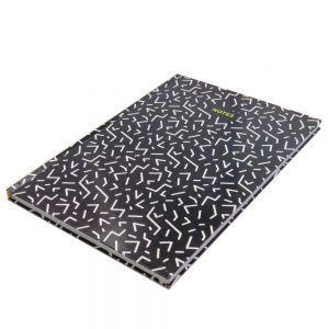 A4 Hard Cover Notebook White Lines Front 2
