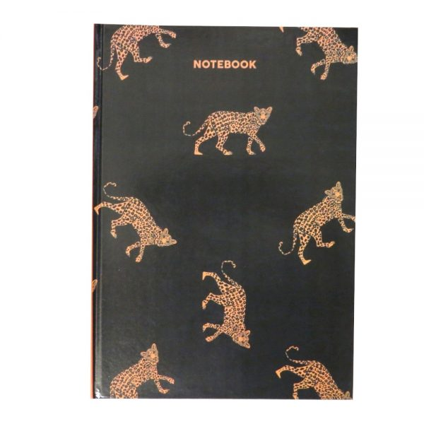 A4 Hard Cover Notebook Leopard Front