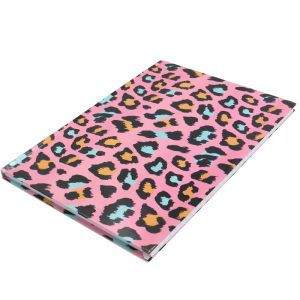 A4 Hard Cover Notebook Animal Print Front 2
