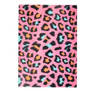 A4 Hard Cover Notebook Animal Print
