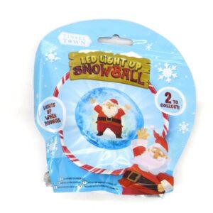 Tinsel Town Led Light Up Bouncing Snowball Santa Front