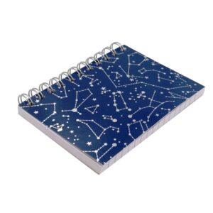 A6 Wirebound Notebook Constellations - Front
