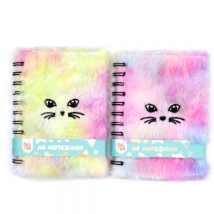 A6 Fluffy Furry Notebook Meow - Front 4