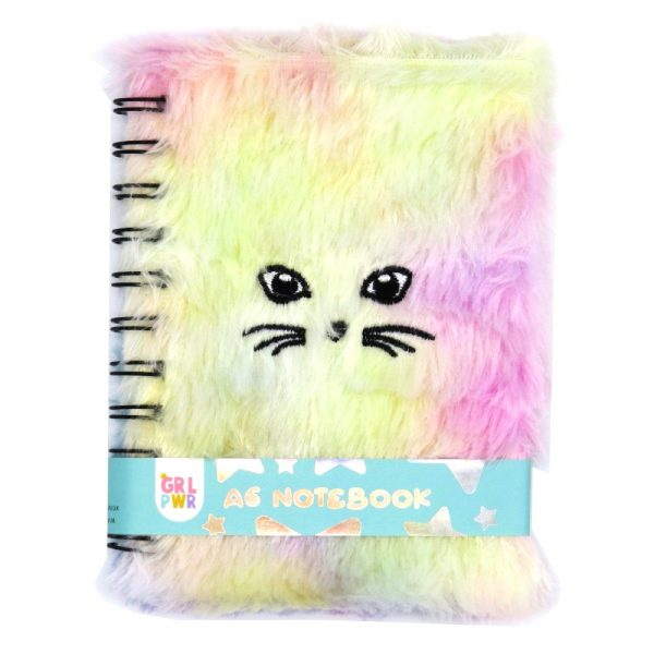 A6 Fluffy Furry Notebook Meow - Front