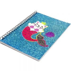 A5 Wire Notebook Meowmaid Sparkle - Front 2
