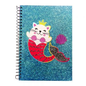 A5 Wire Notebook Meowmaid Sparkle - Front