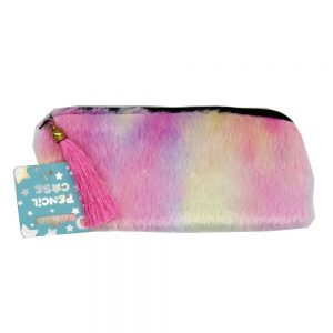 Fluffy Pastel Pencil Case Front