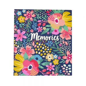 Hello Flower 6 x 4 Photo Album Floral Design Front
