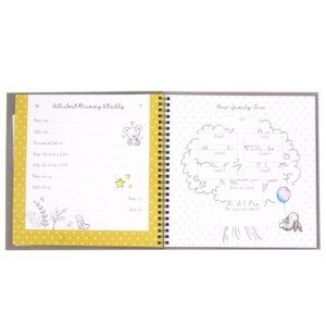 Hugs and Kisses Baby Record Keepsake Book Front 3