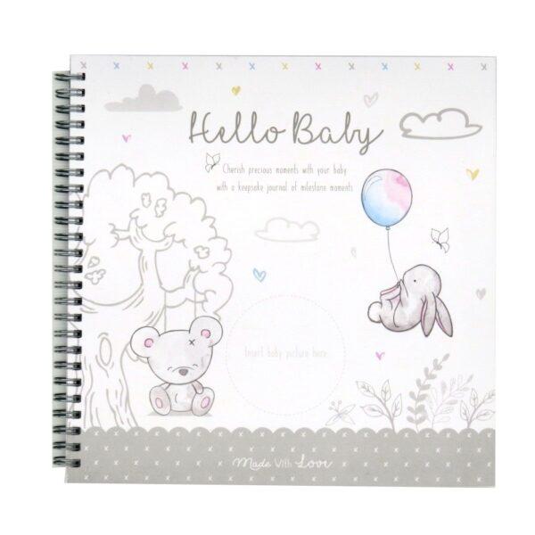 Hugs and Kisses Baby Record Keepsake Book Front