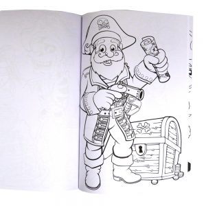 Oodles Pirate Colouring Book Front 2