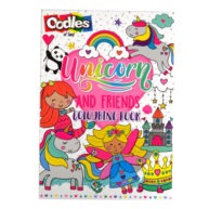Oodles Unicorn Colouring Book Front