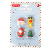 Tinsel Town Christmas Erasers Front