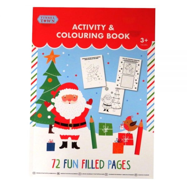 Tinsel Town Christmas Colouring and Activity Book Front