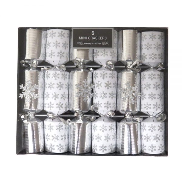 Harvey Mason Christmas Crackers Silver Snowflake Front