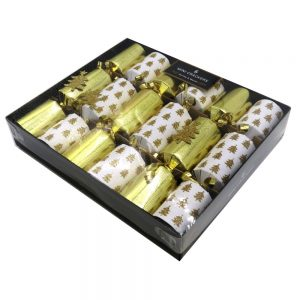 Harvey Mason Christmas Crackers White Gold Tree Front