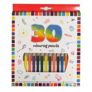 Grafix Half Size Colouring Pencils 30 Pack