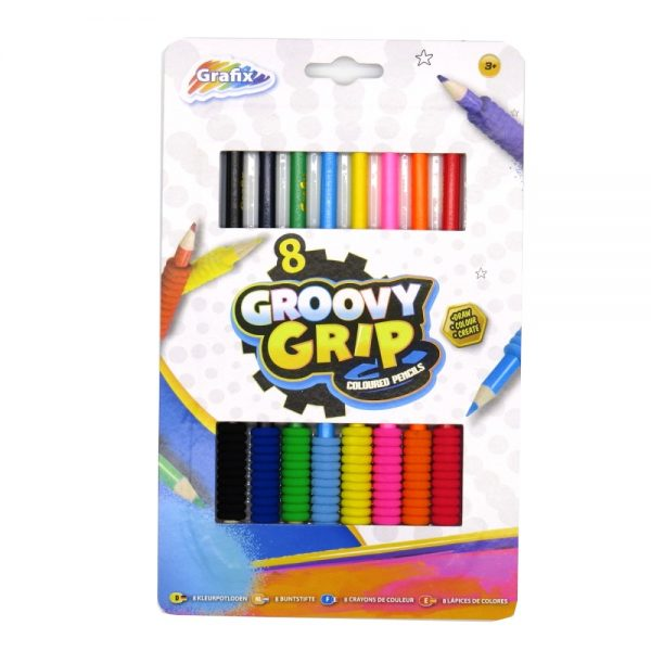 Grafix Groovy Grip Colouring Pencils