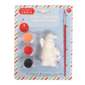 Paint Your Own Christmas Cermaic Figure Santa