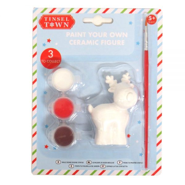 Paint Your Own Christmas Cermaic Figure Rudolf